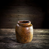 Thailand Clay Jar for Stored of thai food,still life