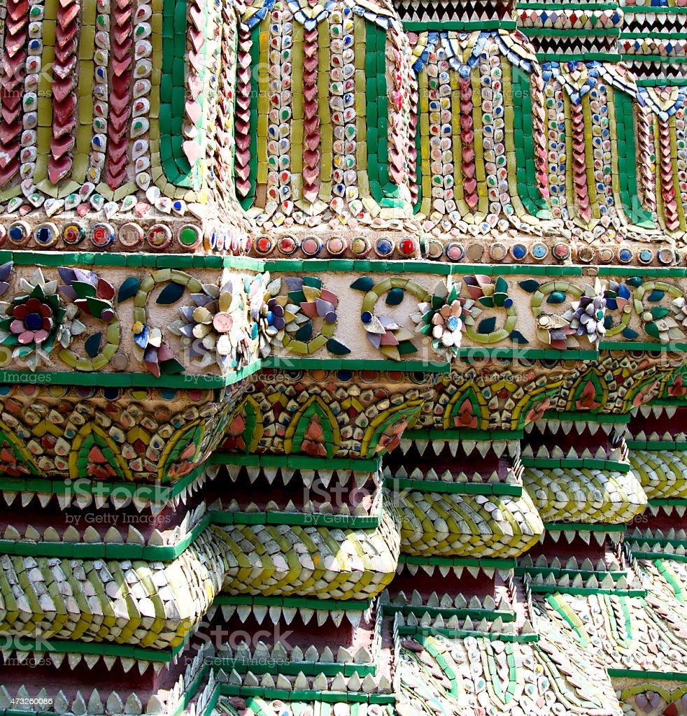 thailand   colored column ceramic    bangkok stock photo