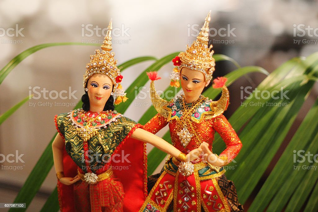 Thailand Culture puppets stock photo