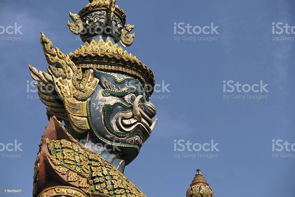 Thailand Demon statue royalty-free stock photo