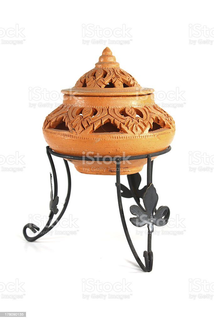 Thailand earth craft pottery royalty-free stock photo