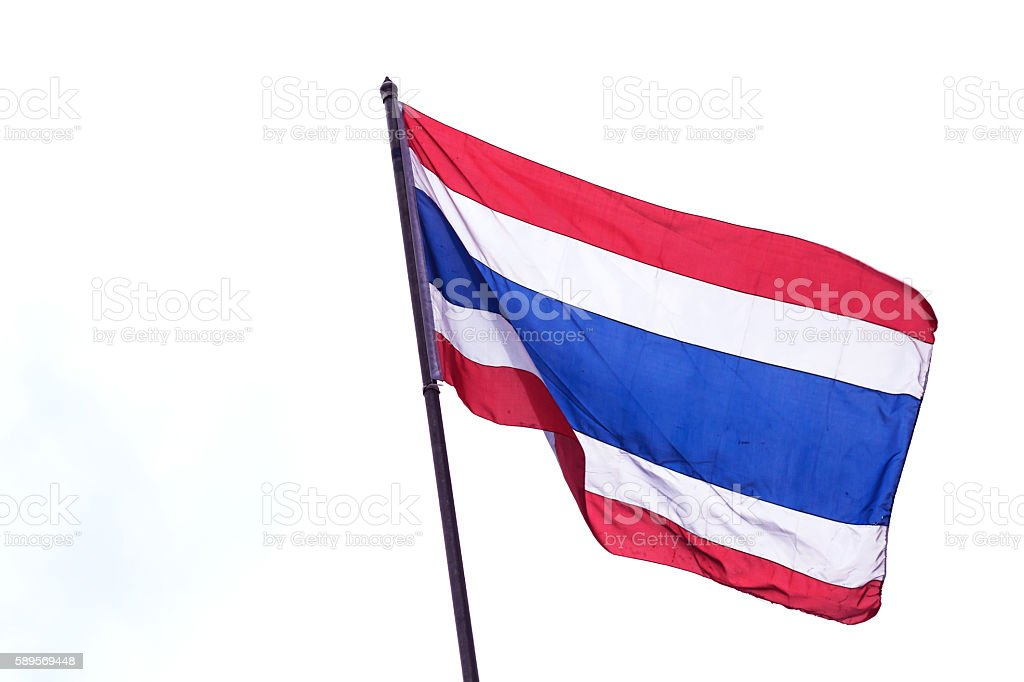 Thailand flag isolated with clipping path stock photo