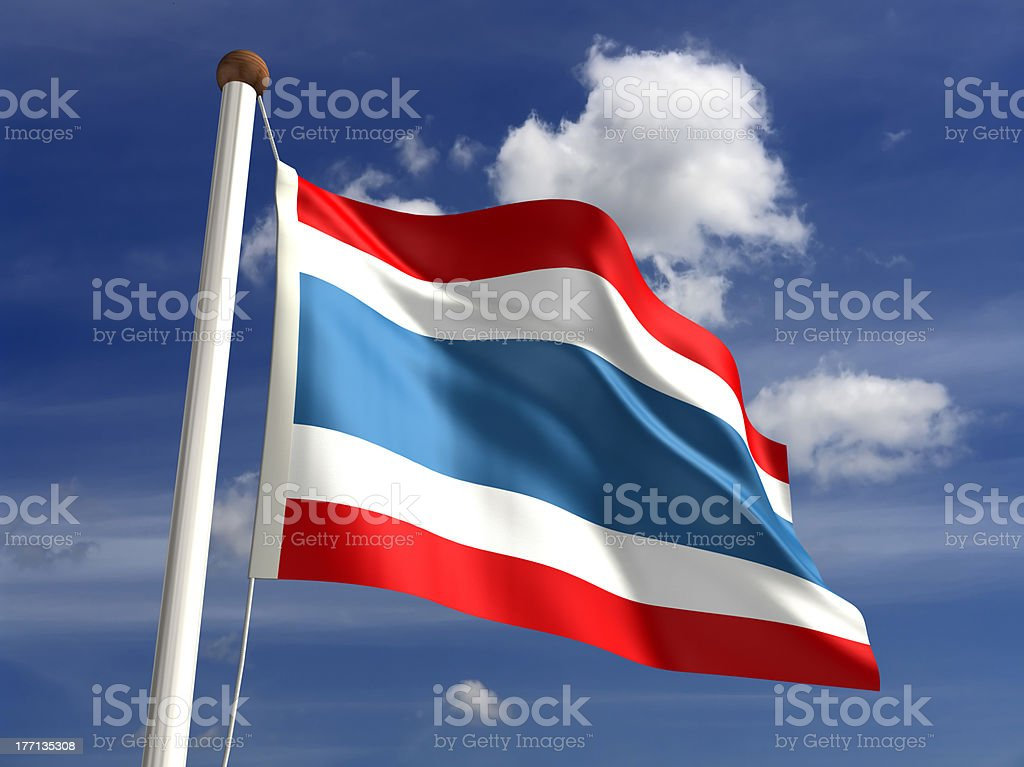 Thailand flag (with clipping path) royalty-free stock photo