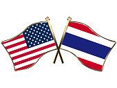 USA Thailand flags insignia