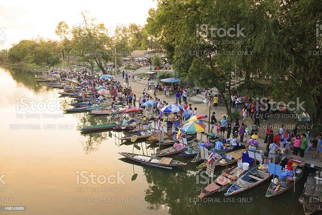 Thailand Floating Market royalty-free stock photo