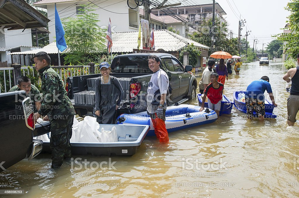 Thailand Flooding stock photo