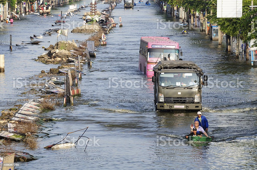 Thailand Floods 2011 stock photo