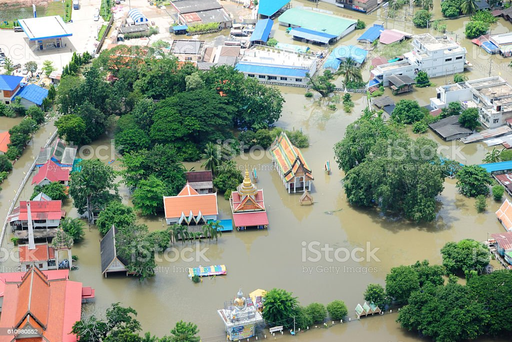 Thailand floods, Natural Disaster, stock photo