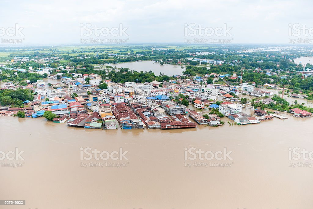 Thailand floods stock photo