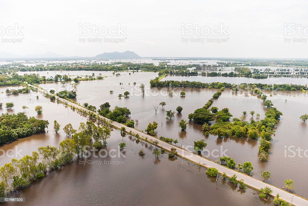 Thailand floods stock photo