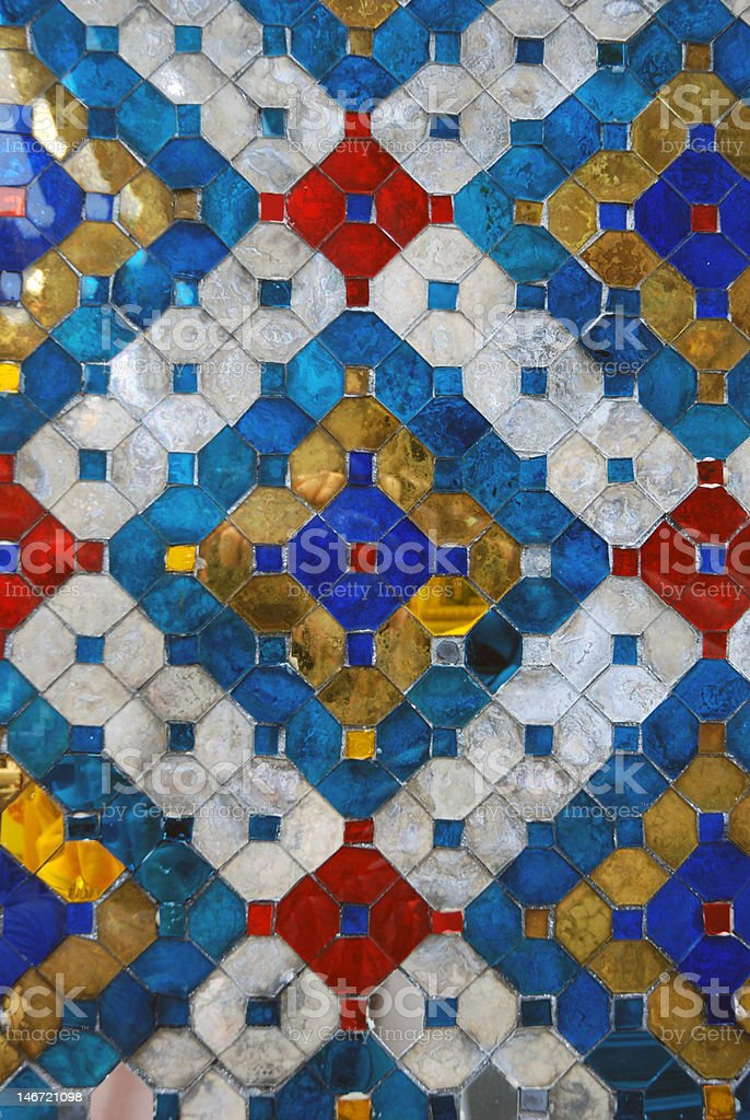 Thailand Glass Mosaic Close-Up royalty-free stock photo