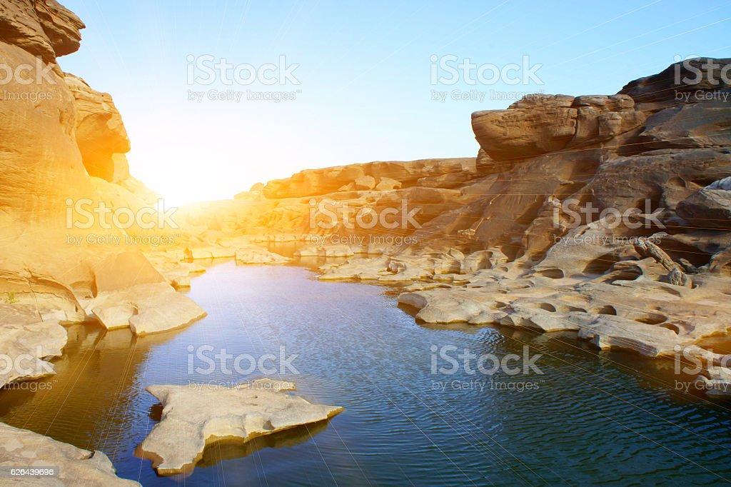 Thailand grand canyon sam pan bok stock photo