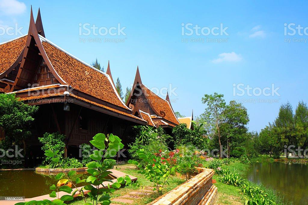 Thailand house royalty-free stock photo