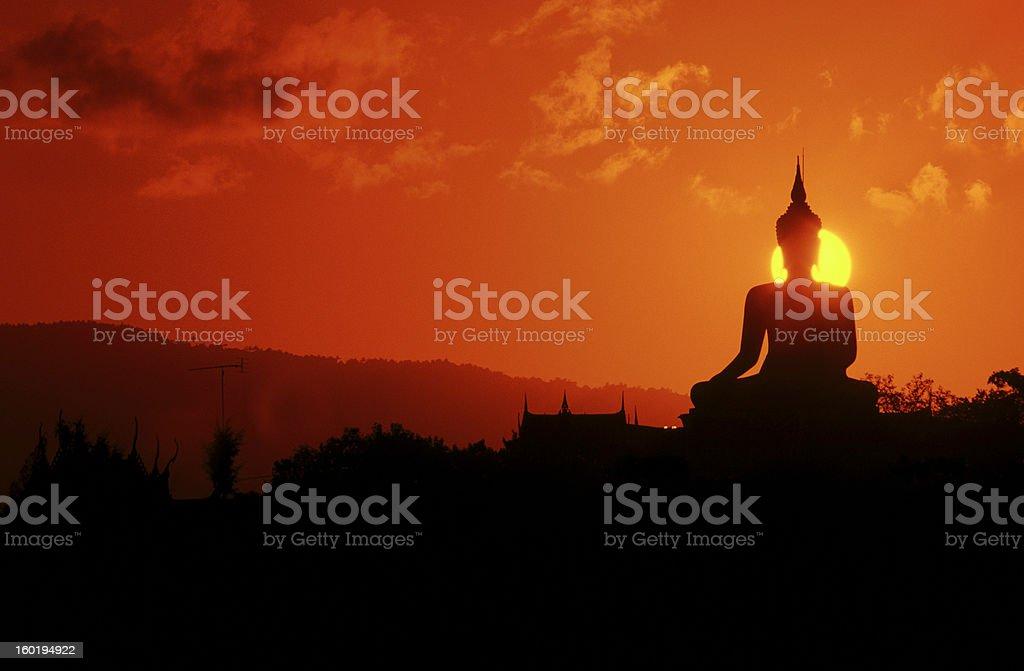 Thailand, Koh Samui, buddha statue. stock photo