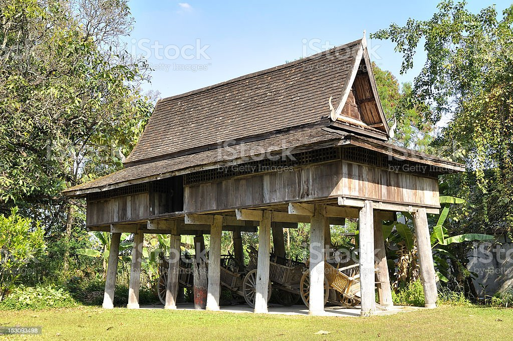 Thailand Lanna architecture royalty-free stock photo
