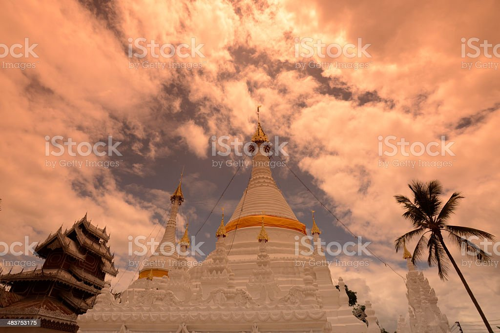 Thailand Mae Hong Son Temple royalty-free stock photo