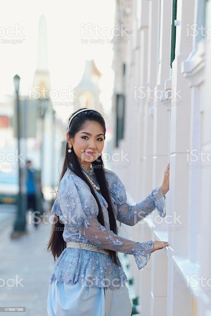 Thailand National Costume stock photo