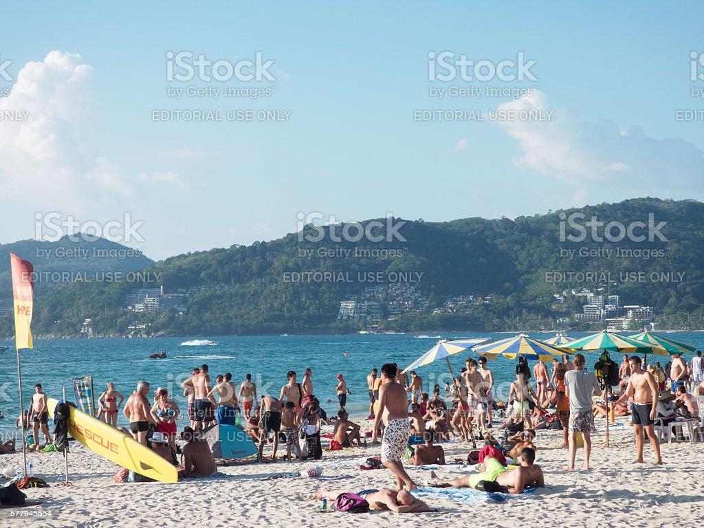 2016 Thailand Patong Phuket Beach stock photo