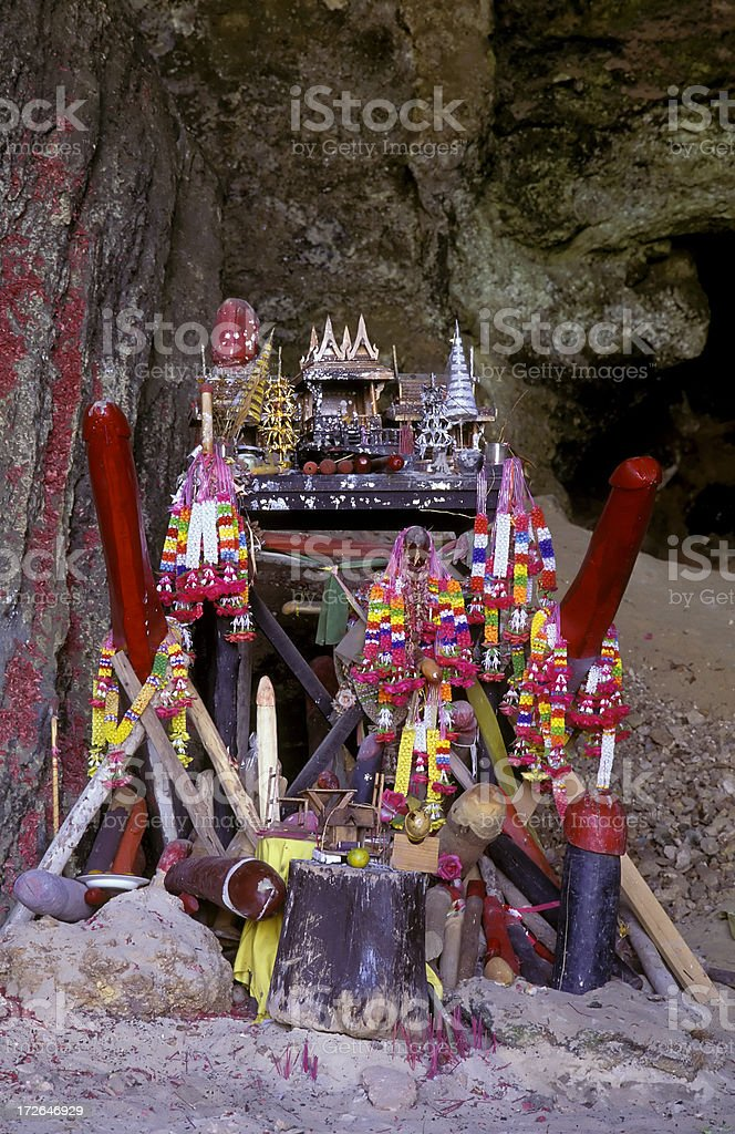 thailand penis religious symbols stock photo