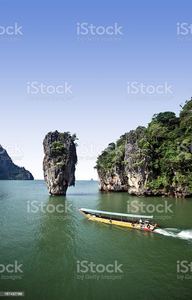 Thailand, Phang Nga Province, Ko Tapu, 'James Bond Island'. stock photo