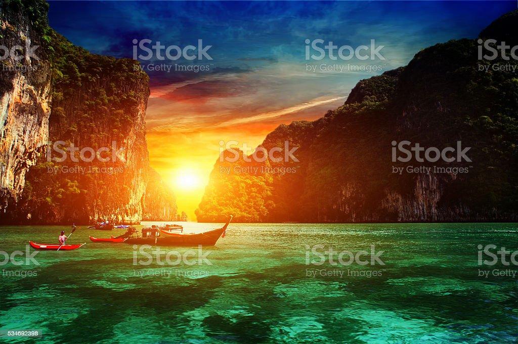 Thailand, Phi Phi Island. stock photo