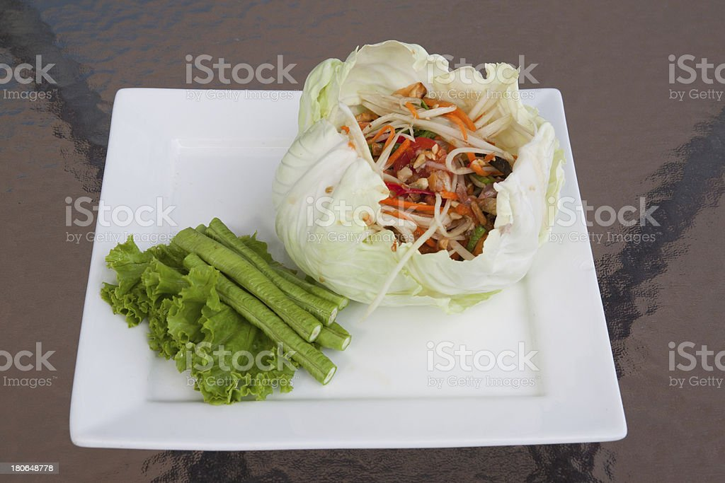 Thailand put crab salad. royalty-free stock photo