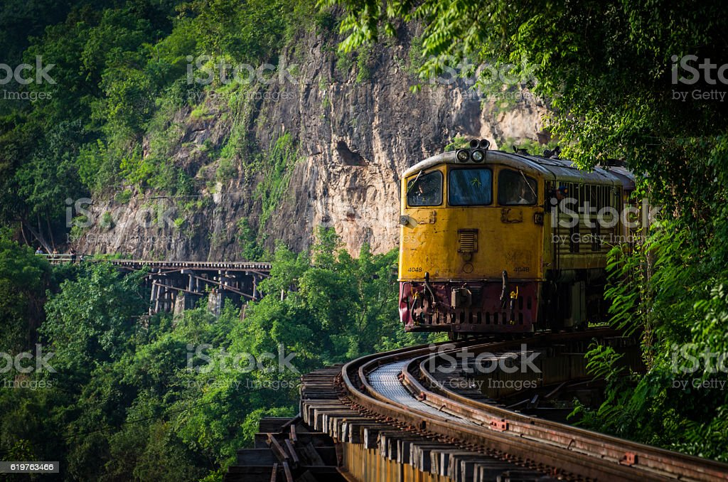 Thailand Railway stock photo