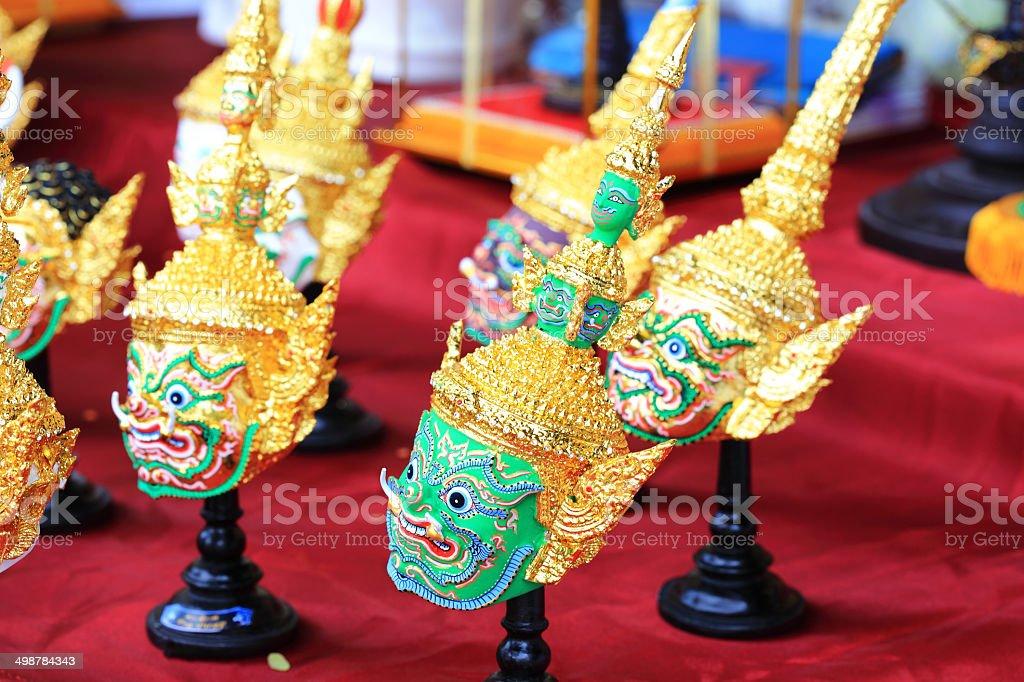 Thailand Ravana performance Khon mask stock photo