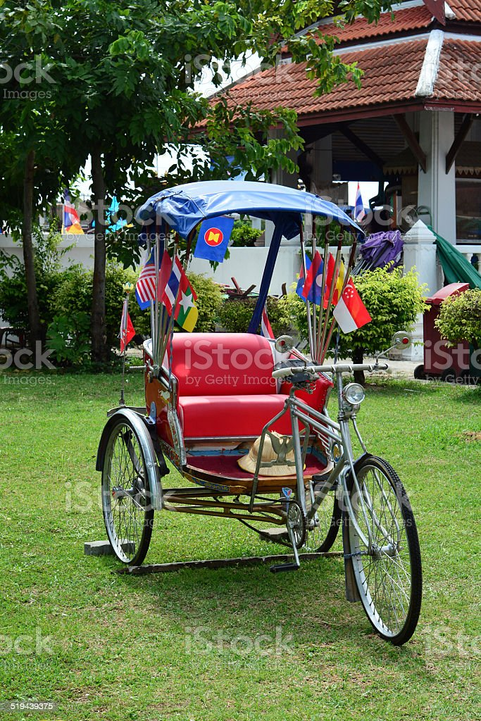 Thailand rickshaw three for take a photo stock photo