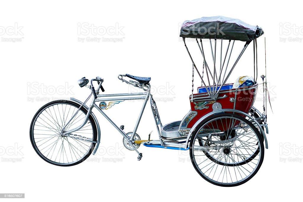 Thailand rickshaw three - wheeler stock photo