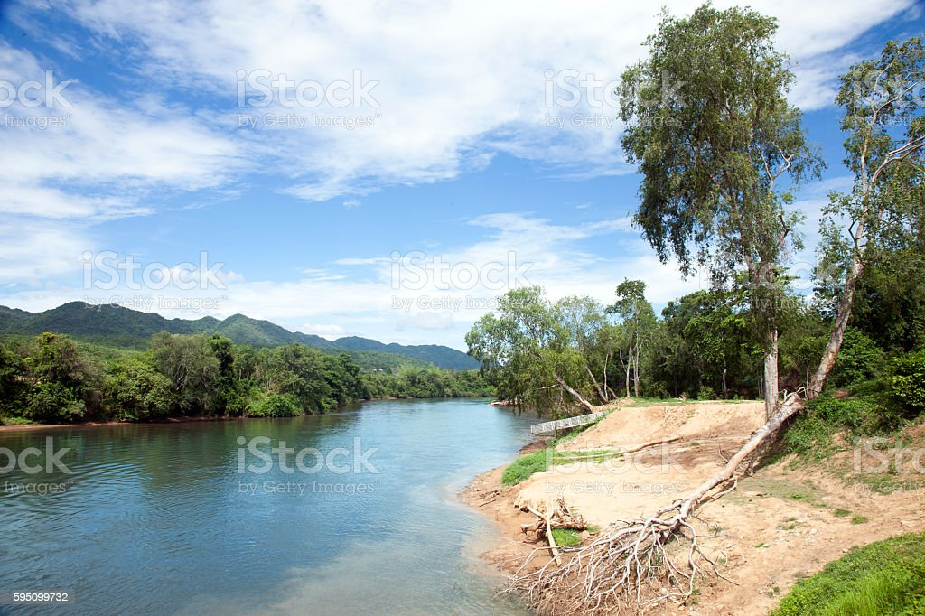 Thailand, river Kwai. stock photo