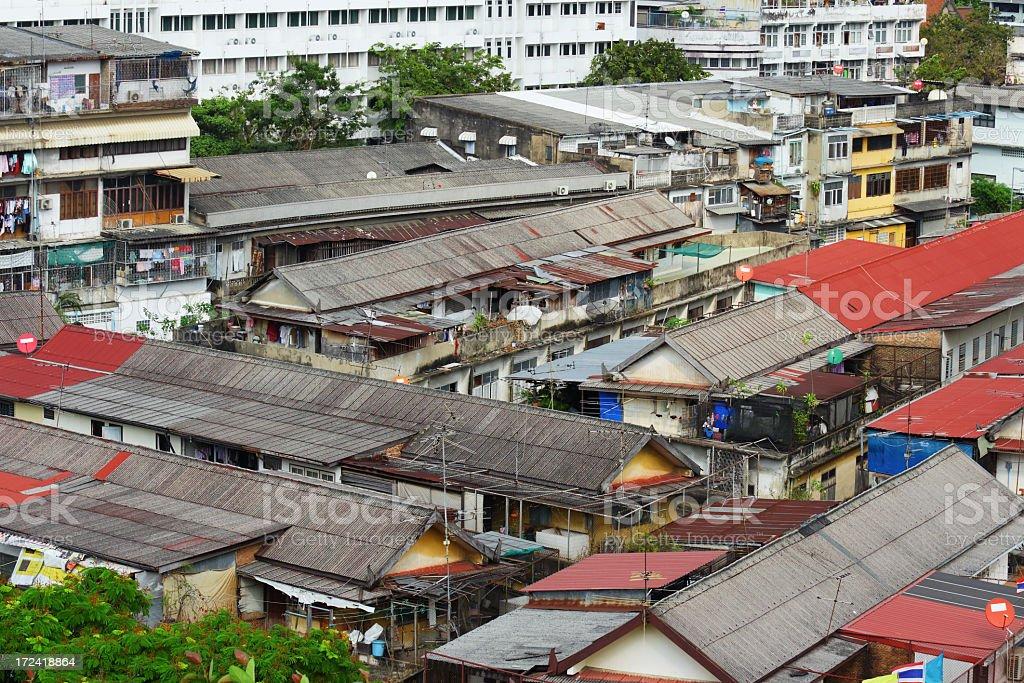 Thailand slum area royalty-free stock photo