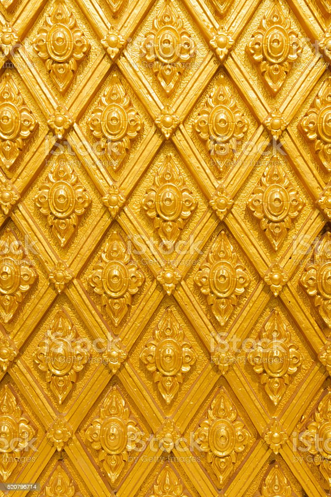 Thailand striped golden wall royalty-free stock photo