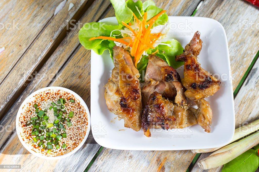 Thailand Style Grilled Chicken stock photo
