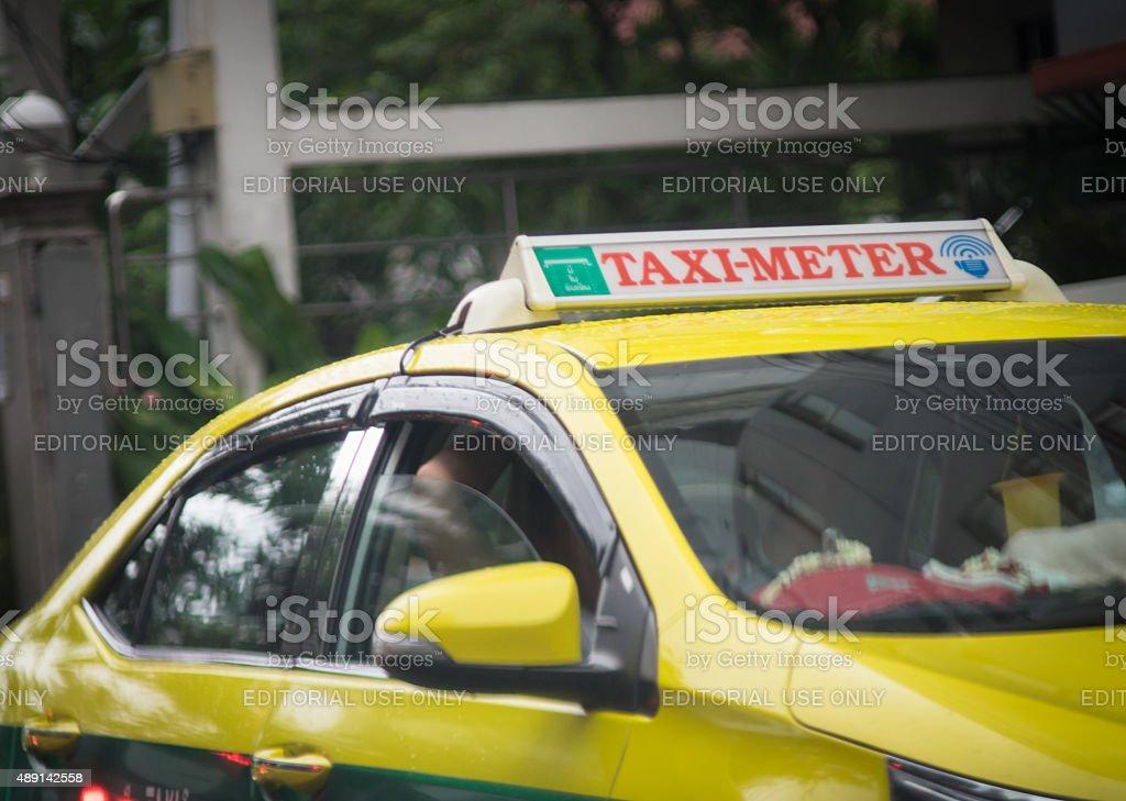 Thailand Taxi Meter stock photo