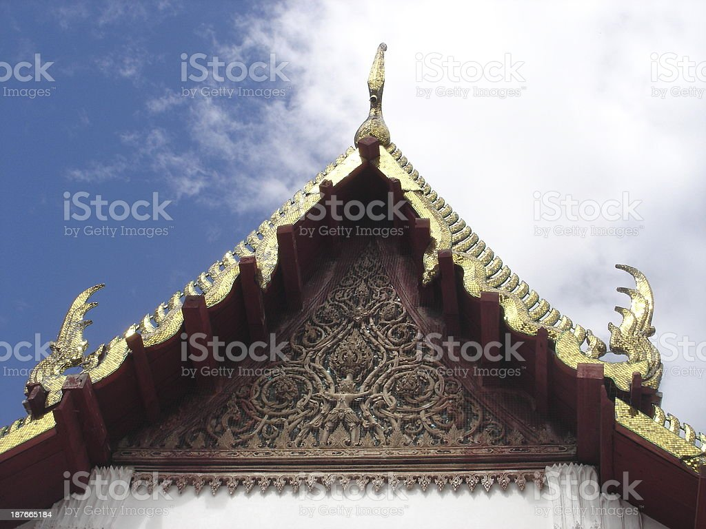 thailand temple architechture stock photo