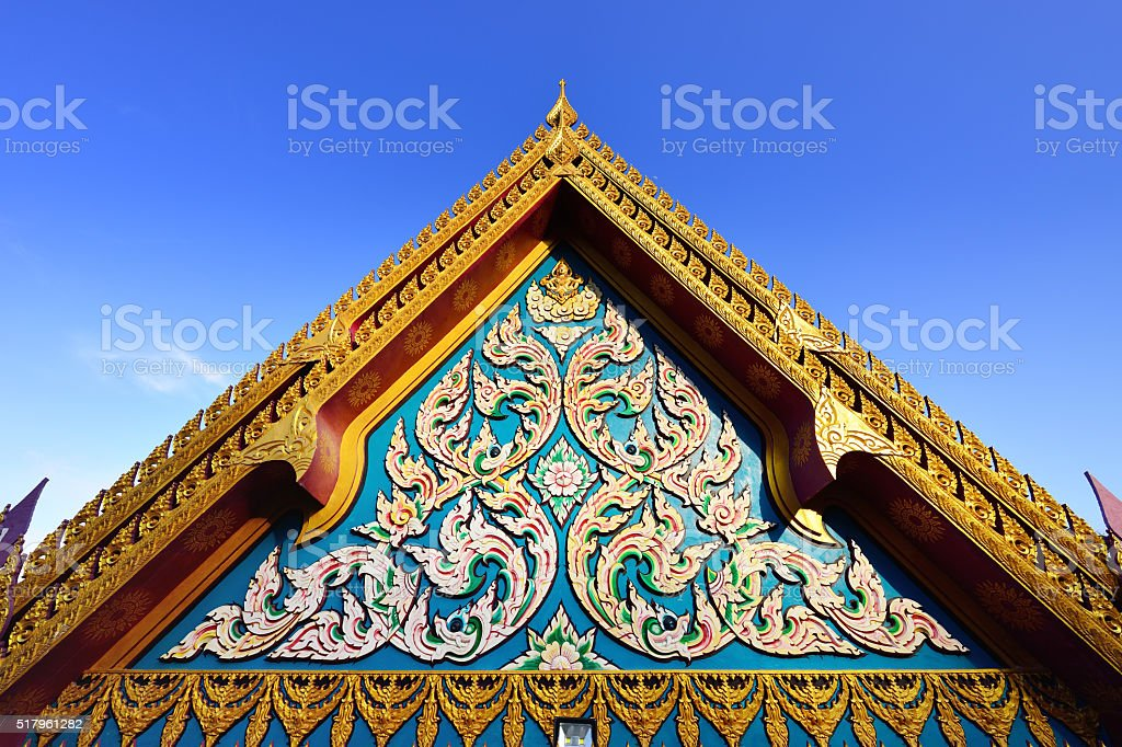 Thailand Temple Roof stock photo
