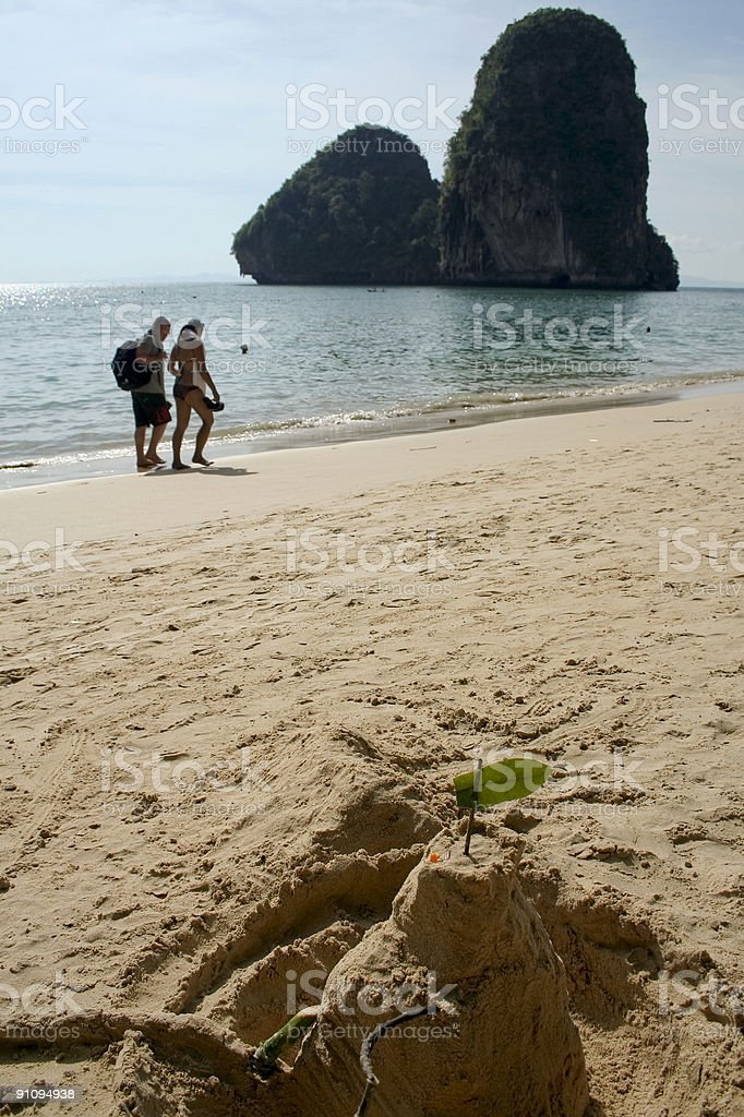 thailand tourists railay beach stock photo