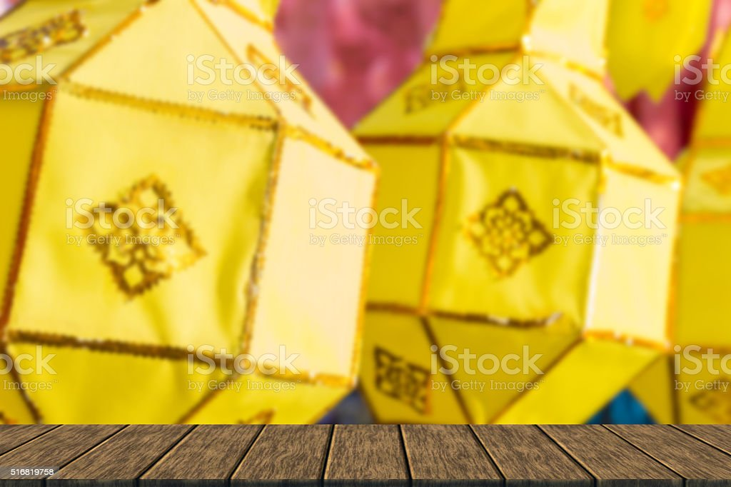 thailand traditional decorating paper lantern stock photo