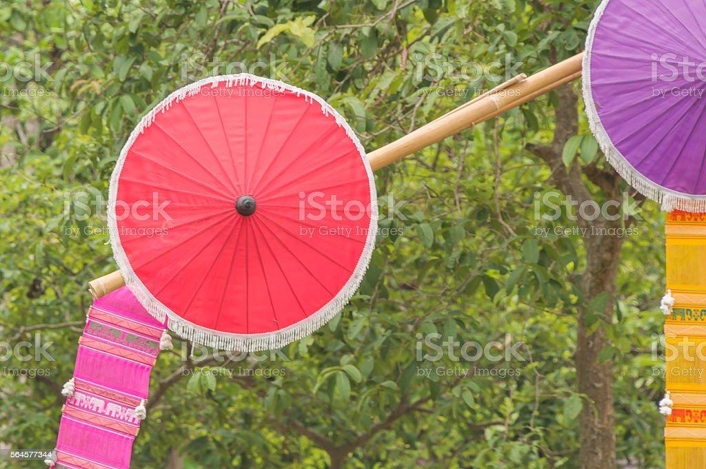 Thailand umbrellas stock photo