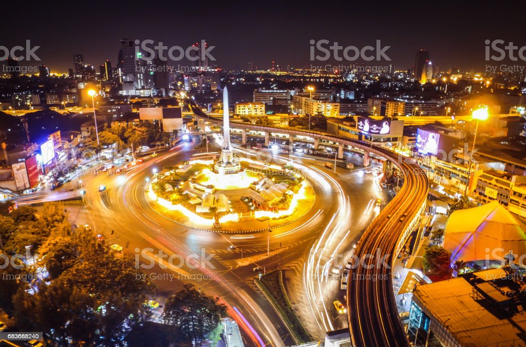 Thailand Victory Monument stock photo