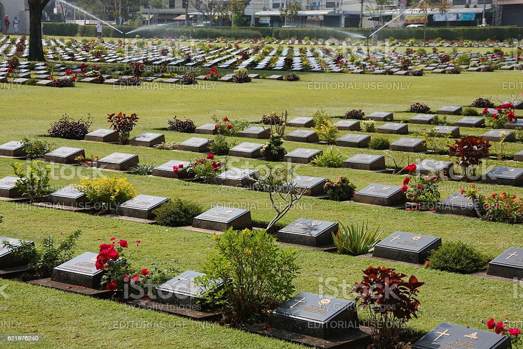 Thailand War Cemetery stock photo