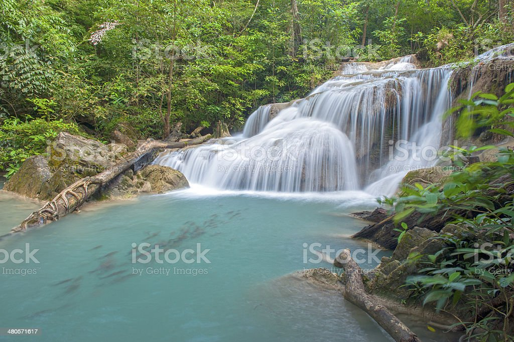 Thailand waterfall royalty-free stock photo