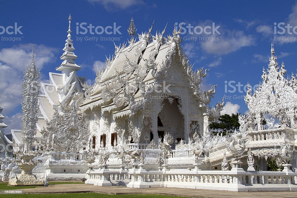 Thailand White Temple Chiang Rai Province royalty-free stock photo