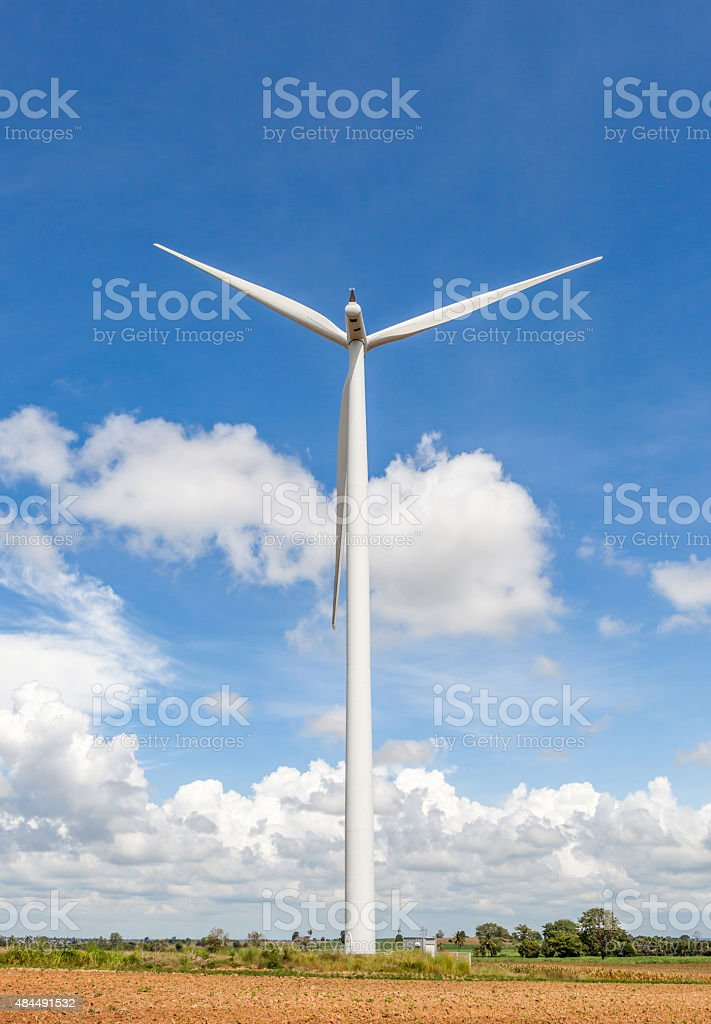 Thailand wind farm for producing renewable electric energy, stock photo