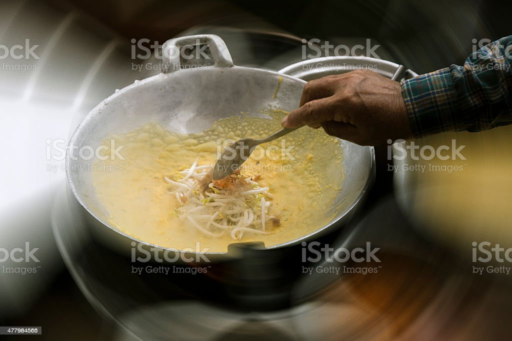 Thailand wrapped fried egg stock photo