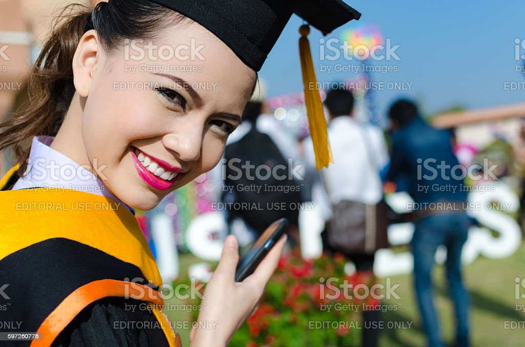 Thailand's graduation stock photo