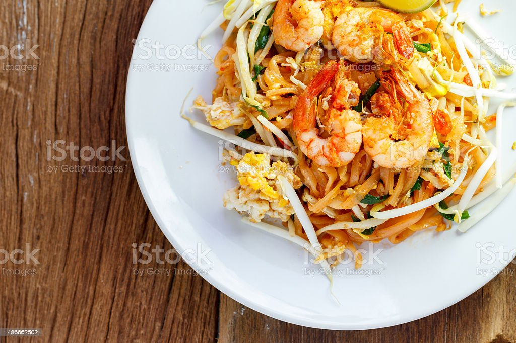 Thailand's national dishes,  (Pad Thai) stock photo