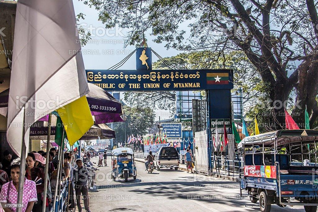 thai-myanmar border stock photo