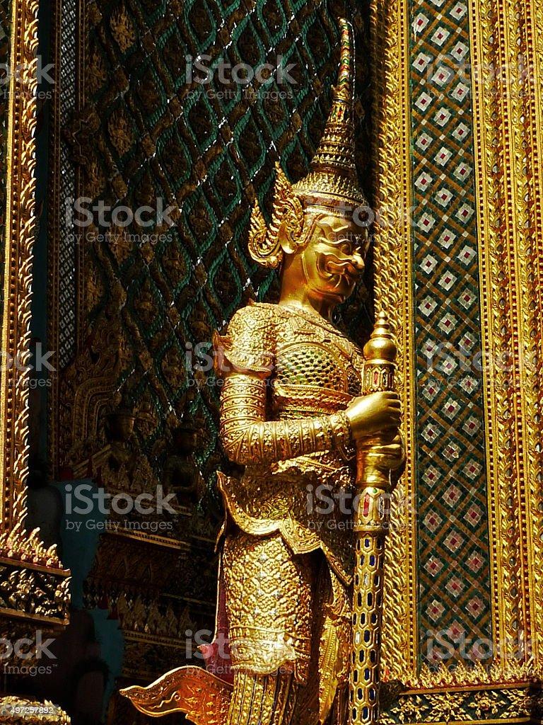 Thaïlande, Bangkok, Palais, Palais royal, statue, masque stock photo